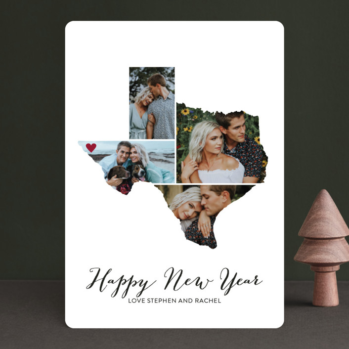 """""""Love Location"""" - Holiday Photo Cards in Snow by Heather Buchma."""