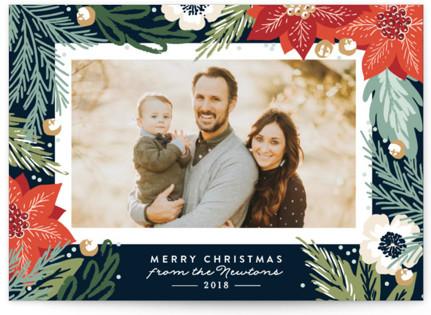 Winter Botanicals Holiday Photo Cards