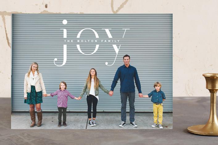 """""""Smart Joy"""" - Holiday Photo Cards in Vanilla by Hooray Creative."""