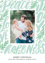 Word Script Frame Holiday Photo Cards By Alethea and Ruth