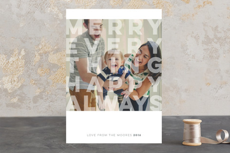 Merry and Modern Holiday Photo Cards