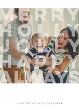 Merry and Modern Holiday Photo Cards By Jennifer Lew