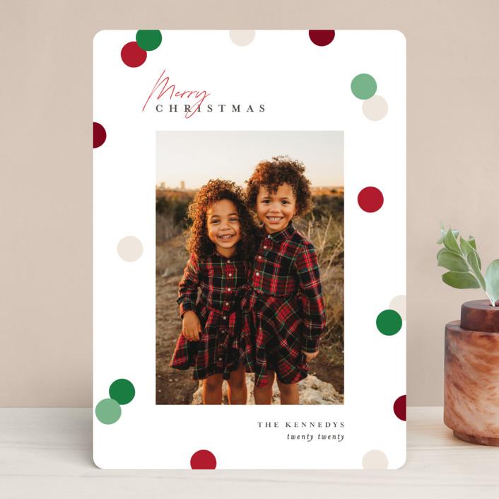 Christmas Dots holiday card