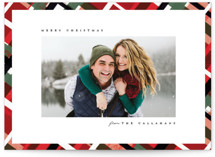 This is a green holiday photo card by Julie Murray called Vienna with standard printing on smooth signature in standard.
