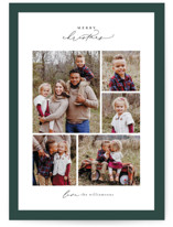 This is a green holiday photo card by Ekko Studio called Framed Collage with standard printing on smooth signature in standard.