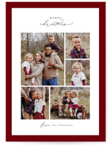 This is a red holiday photo card by Ekko Studio called Framed Collage with standard printing on smooth signature in standard.