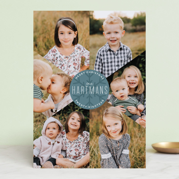 """""""Snowflake Fragments"""" - Holiday Photo Cards in Cranberry by Ellis."""