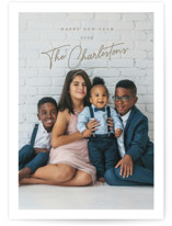 This is a brown holiday photo card by chocomocacino called eggnog with standard printing on smooth signature in standard.