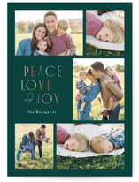 This is a blue holiday photo card by Jennifer Wick called More than joy with standard printing on smooth signature in standard.