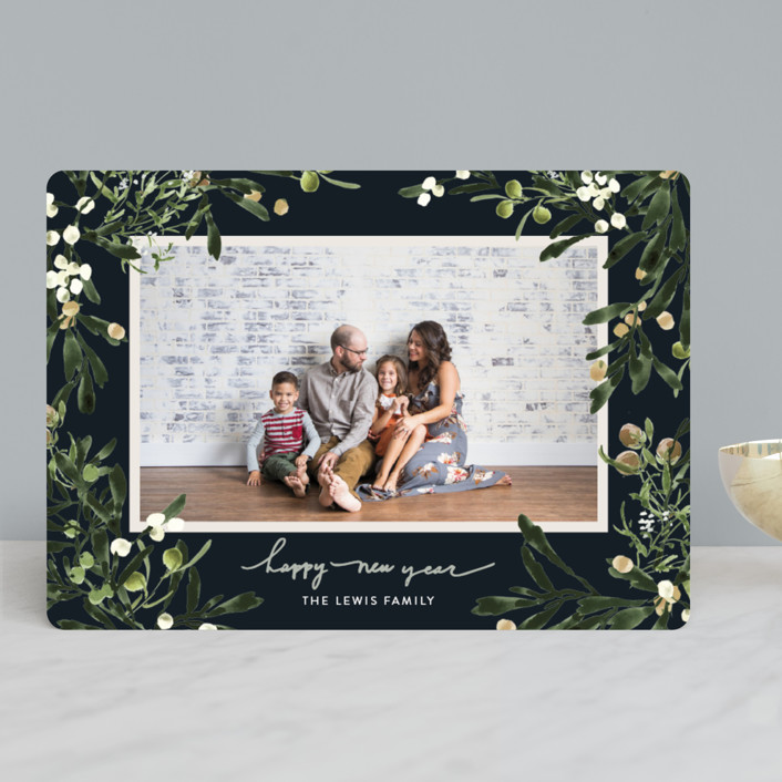 """""""Winter Floral Garden"""" - Holiday Photo Cards in Spruce by Kelly Ventura."""