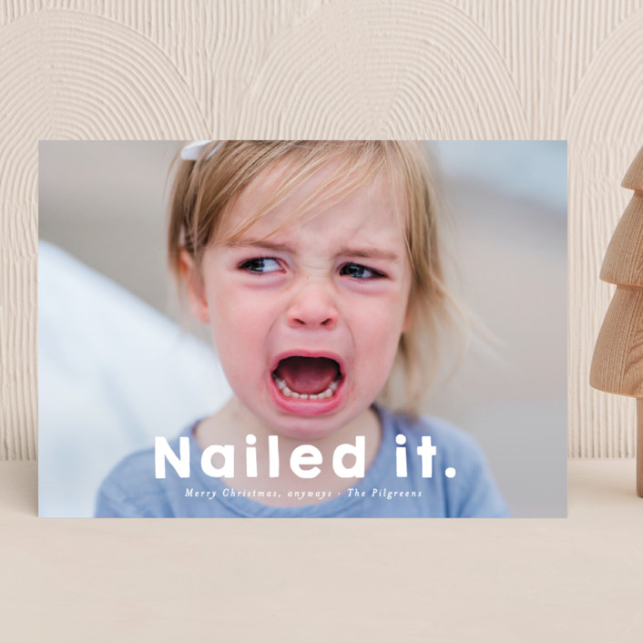 Nailed It holiday card