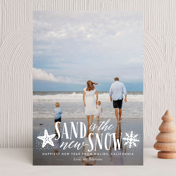 """Sand and Snow"" - Holiday Photo Cards in Shaved Ice by Ali Means."