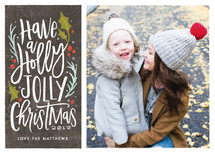 holly jolly cheer Holiday Photo Cards By Karidy Walker