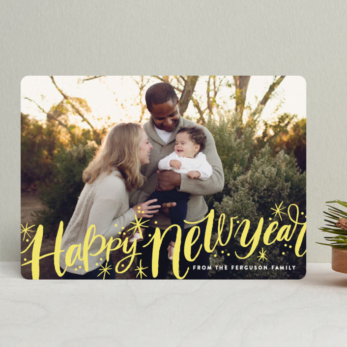 """""""Merry Christmas Sparkle Snow"""" - Holiday Photo Cards in Snow by Alethea and Ruth."""