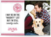 This is a red holiday photo card by Paper Dahlia called Still Cute with standard printing on smooth signature in standard.