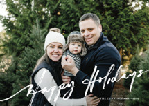 brushed holiday Holiday Photo Cards By Frooted Design