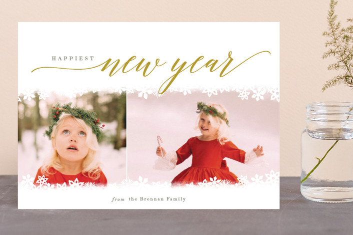 """Snowed In"" - Holiday Photo Cards in Curry by Laura Hankins."