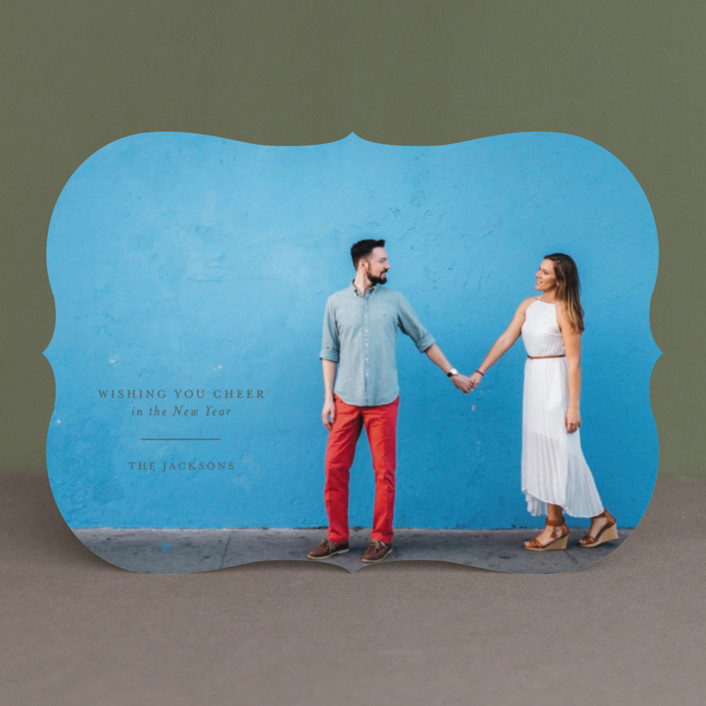 """""""Classic holiday"""" - Full-Bleed Photo, Modern Holiday Photo Cards in Smoke by Seven Swans."""