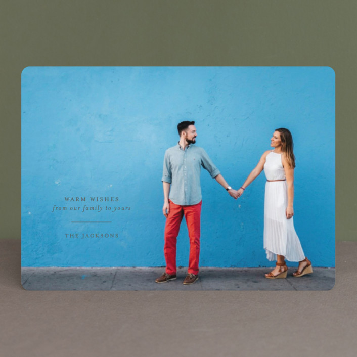 """Classic holiday"" - Holiday Photo Cards in Smoke by Seven Swans."