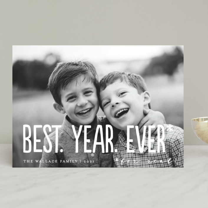 """Good All Year"" - Funny Holiday Photo Cards in Snowflake by Amy Payne."