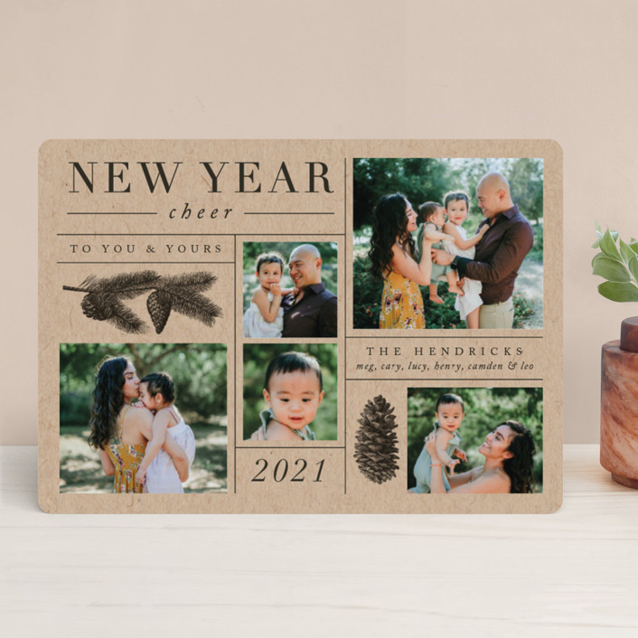 """""""Daily Collage"""" - Holiday Photo Cards in Pine by Amy Kross."""