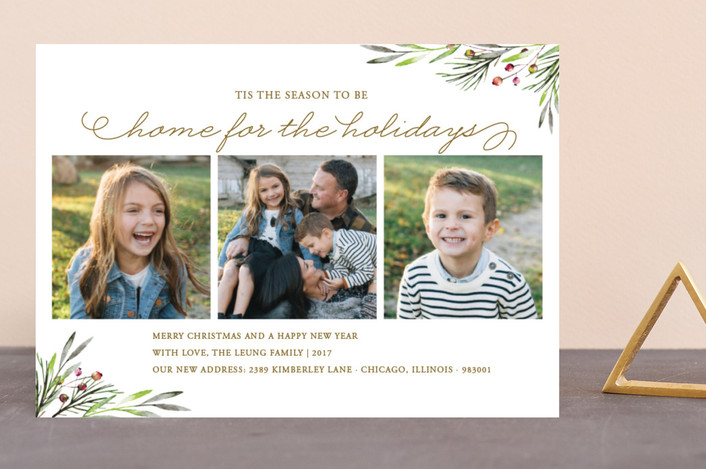 """Winterberry."" - Holiday Photo Cards in Snow by Coco and Ellie Design."