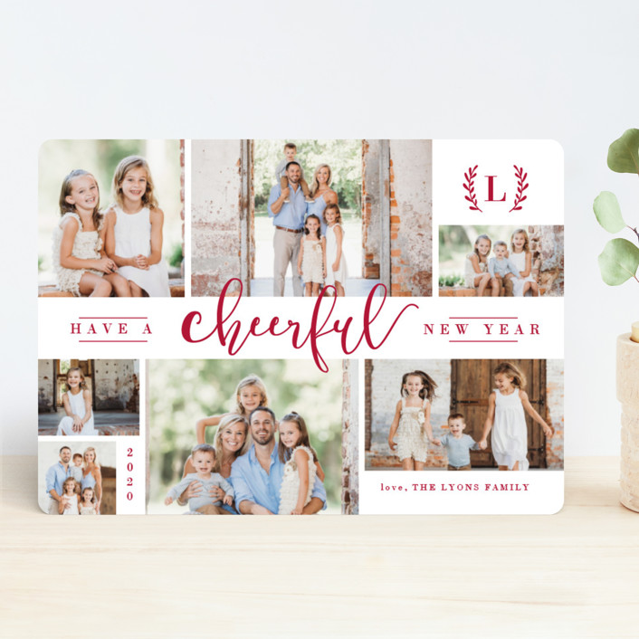 """""""Wonderful Collage"""" - Holiday Photo Cards in Midnight by Melanie Severin."""