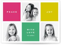 Preppy Blocks Holiday Photo Cards By Oscar & Emma