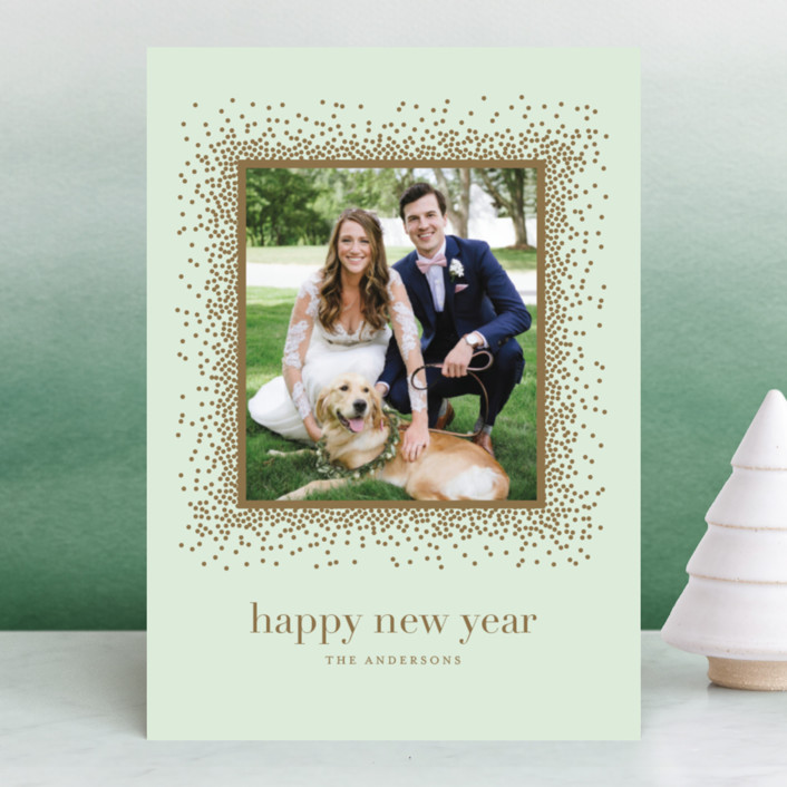 """""""Married & Bright"""" - Holiday Photo Cards in Midnight Blue by Jennifer Postorino."""