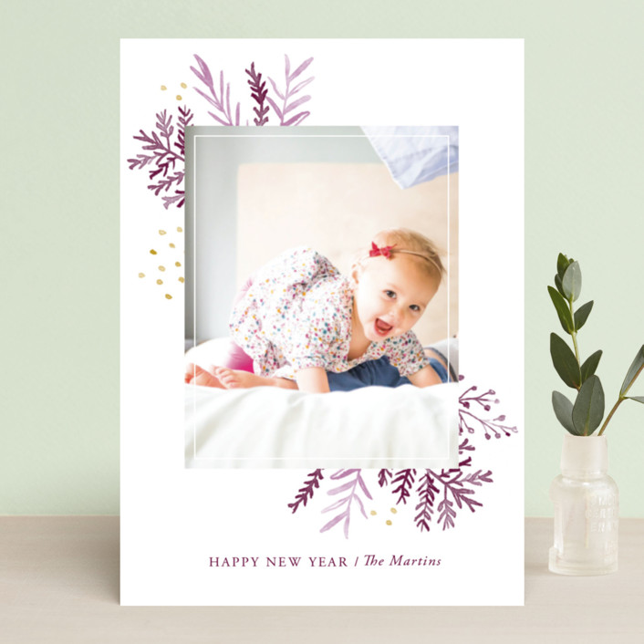 """""""Wintertide"""" - Holiday Photo Cards in Evergreen by Oscar & Emma."""