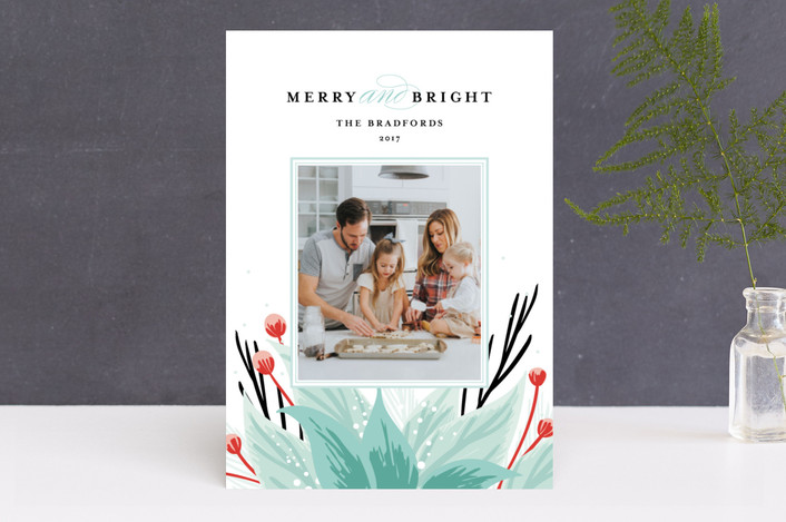 """""""Emblem"""" - Holiday Photo Cards in frosted leaf by Angela Marzuki."""