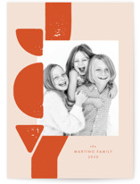 This is a orange holiday photo card by Lea Delaveris called More of that joy with standard printing on smooth signature in standard.