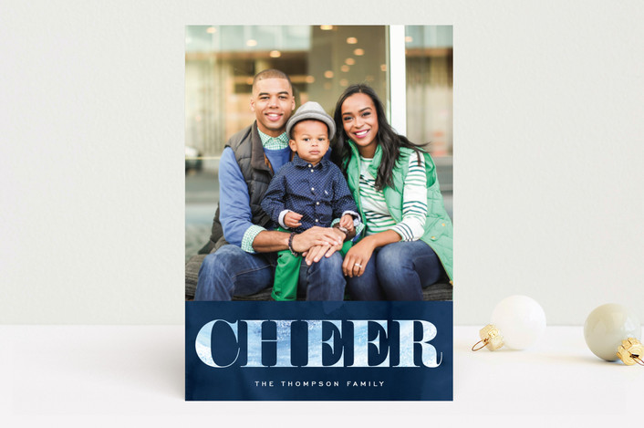 """""""Peace of Winter"""" - Holiday Photo Cards in Navy by Hooray Creative."""