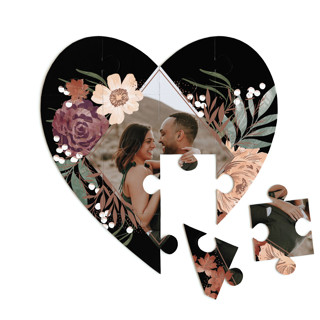 This is a black heart puzzle by Alethea and Ruth called Peony Crush printing on signature in 12 piece.