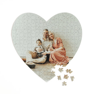 This is a white heart puzzle by Minted Custom called The Big Picture printing on signature in 252 piece.
