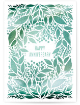 This is a green anniversary card by Alethea and Ruth called Happy Birthday Vines with standard printing on signature in greeting cards.