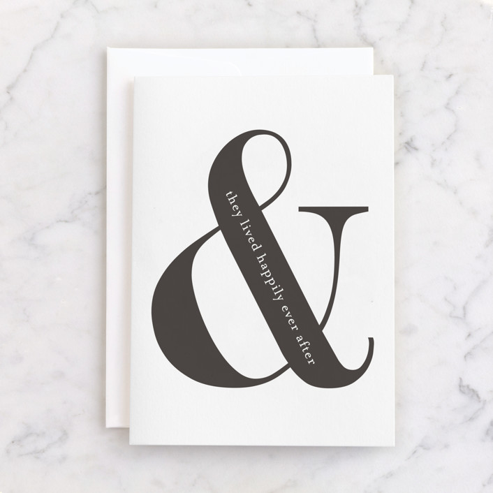 """""""Happily Ever After"""" - Individual Anniversary Greeting Cards in Ink by Kasia Labocki."""