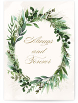 This is a green anniversary card by Susan Moyal called Mixed Greenery with standard printing on signature in greeting cards.