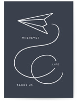 This is a blue anniversary card by Amy Payne called Aeronautics with standard printing on signature in greeting cards.
