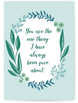 This is a blue anniversary card by Megan Cash called One Thing with standard printing on signature in greeting cards.