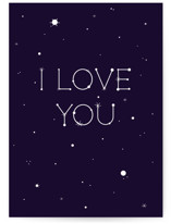 This is a blue anniversary card by Sarah Cohn called Constellations with standard printing on signature in greeting cards.