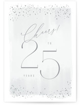 This is a grey anniversary card by Kristie Kern called Happy 25th Anniversary! with standard printing on signature in greeting cards.