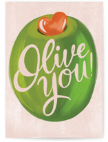 This is a green anniversary card by Gina Grittner called Olive You with standard printing on signature in greeting cards.