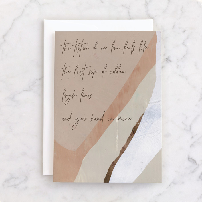 """""""Laugh Lines"""" - Individual Anniversary Greeting Cards in Coffee by Jaclyn Rae."""