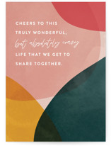 This is a green anniversary card by Jessica Corliss called Absolutely Crazy with standard printing on signature in greeting cards.