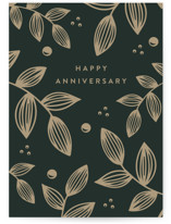 This is a green anniversary card by Roopali called Evergrowing Love with standard printing on signature in greeting cards.