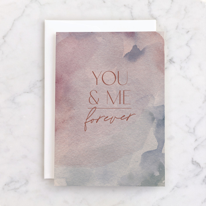 """""""Forever Washed"""" - Individual Anniversary Greeting Cards in Dusk by Everett Paper Goods."""