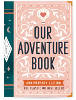 This is a pink anniversary card by Cindy Chu called Our Adventure book with standard printing on signature in greeting cards.
