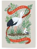 This is a beige new baby greeting card by Paper Sun Studio called Sweet Welcome with standard printing on signature in greeting cards.