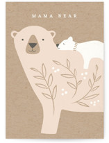 This is a beige new baby greeting card by Karidy Walker called Mama Bear with standard printing on signature in greeting cards.